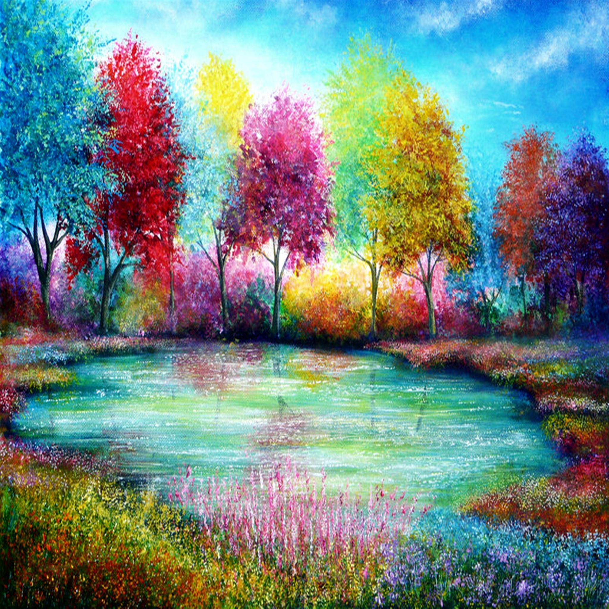 Fond d 39 cran ipad couleur paysage 2048x2048 gratuit for Paysage gratuit